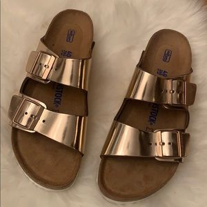 Gold Birkenstock(SOLD)